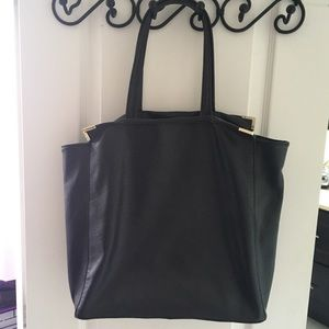 Large faux leather tote